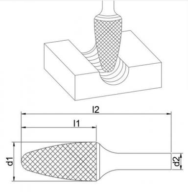 Борфрезы параболическая F
