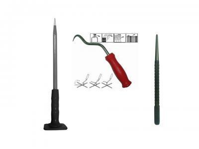 Зубила, керны, крючки для вязки арматуры