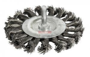 Кордщетка для дрели радиальная витая  75 мм, хвост 6 мм ПРАКТИКА