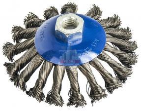 Кордщетка для МШУ радиальная с наклоном витая 125 мм М14 ПРАКТИКА