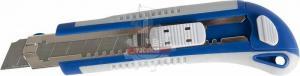 Нож технический 18 мм двухкомпонентный корпус, металлическая направляющая, автостоп КОБАЛЬТ