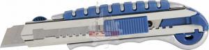 Нож технический 18 мм, металлический корпус, автостоп, доп. фиксатор КОБАЛЬТ