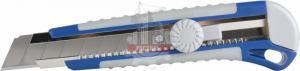Нож технический 25 мм, двухкомпонентный корпус, металлическая направляющая, фиксатор КОБАЛЬТ