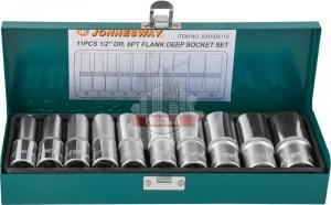 "Набор головок 1/2"", 10-24 мм, 11 предметов JONNESWAY"