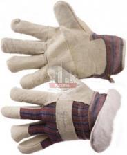 Перчатки спилковые комбинированные на меху