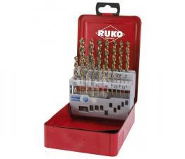 Набор сверл 19 пред по металлу 1-10 мм HSS-G Turbo RUKO