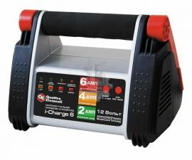 Зарядное устройство i-Charge  6 (12В, 6/4/2 А) полный автомат QUATTRO ELEMENTI