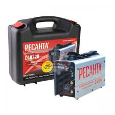 Сварочный аппарат инверторный САИ 220 (220 А, 5,0мм, ПВ70%) в кейсе  РЕСАНТА