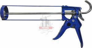 Пистолет для герметика КОБАЛЬТ скелетный, усиленный, резак, противокапельная система